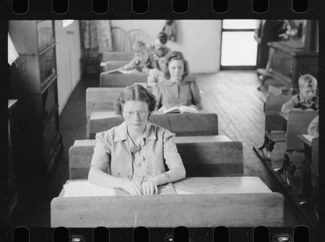 Rural schoolroom, Wisconsin
