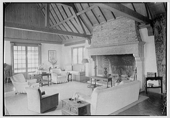 Rush Sturges, residence in Wakefield, Rhode Island. Living room
