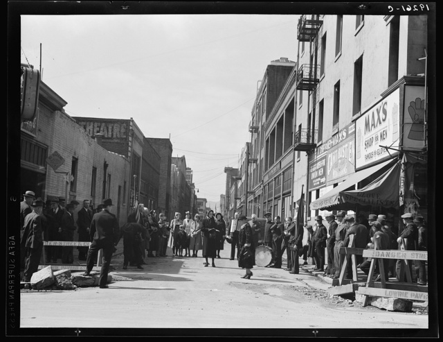Salvation Army, San Francisco, California. General view of army and crowds