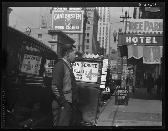 Salvation Army, San Francisco, California. In the neighborhood where the Salvation Army operates. Sedan service to Los Angeles on share the expense basis