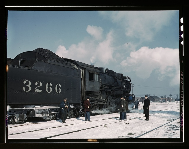 Santa Fe RR freight train about to leave for the West Coast from Corwith yard, Chicago, Ill., Santa Fe R.R. trip