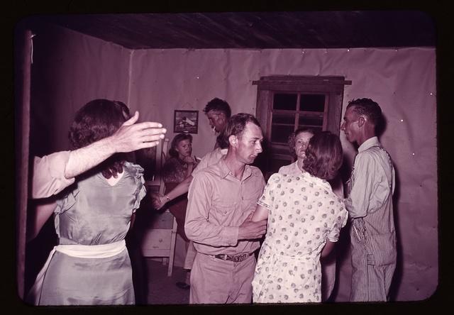 Scene at square dance, McIntosh county, Oklahoma