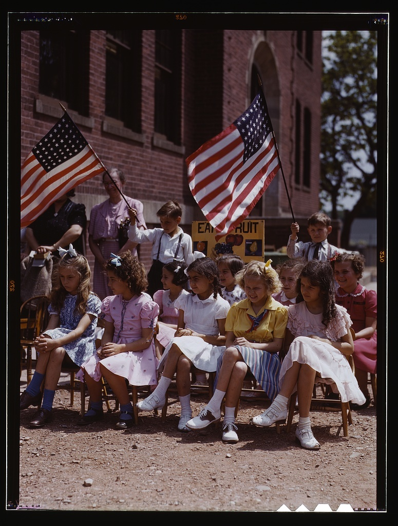 School children, half of Polish and half of Italian descent, at a festival in May 1942, Southington, Conn.