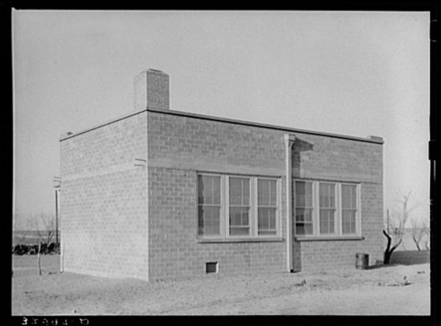 Schoolhouse. El Indio, Texas