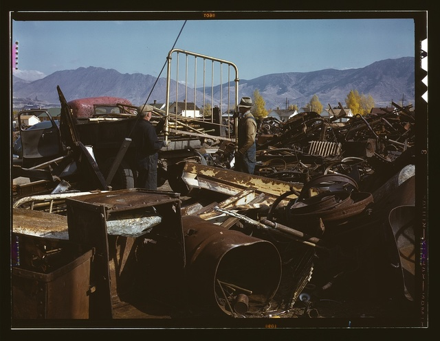 Scrap and salvage depot, Butte, Mont.