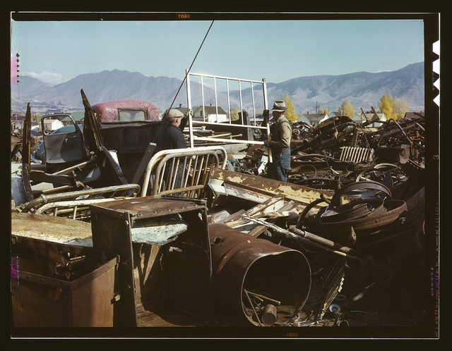 Scrap and salvage depot, Butte, Montana