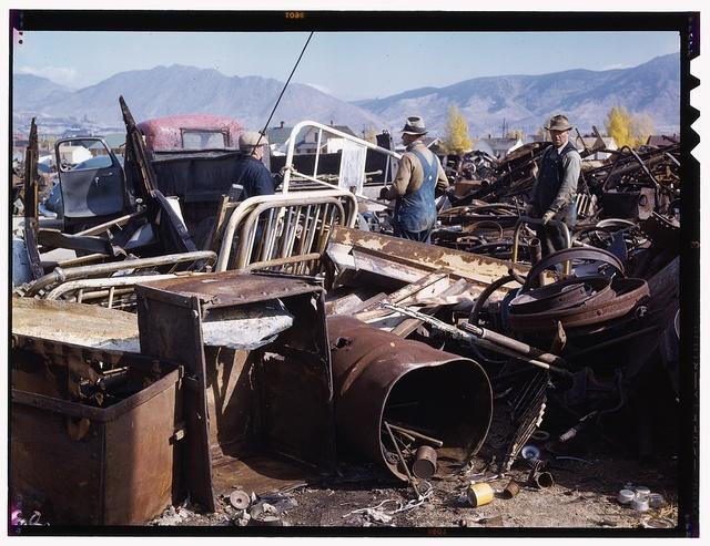 Scrap and salvage depot, Butte, Montana