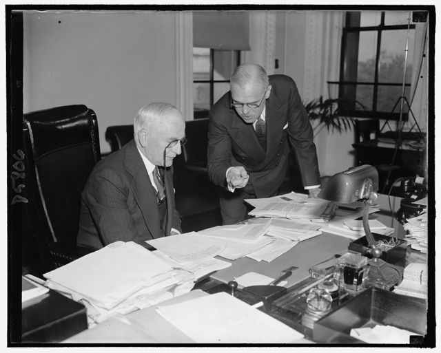 Secy. of State Cordell Hull & his Asst. Harry A. McBride