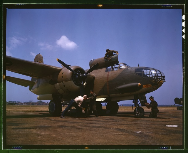Servicing [an] A-20 bomber, Langley Field, Va.