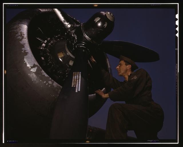 Servicing [an] A-20 bomber, Langley Field, Va.