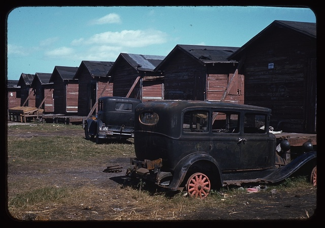 Shacks condemned by Board of Health, formerly (?) occupied by migrant workers and pickers, Belle Glade, Fla.