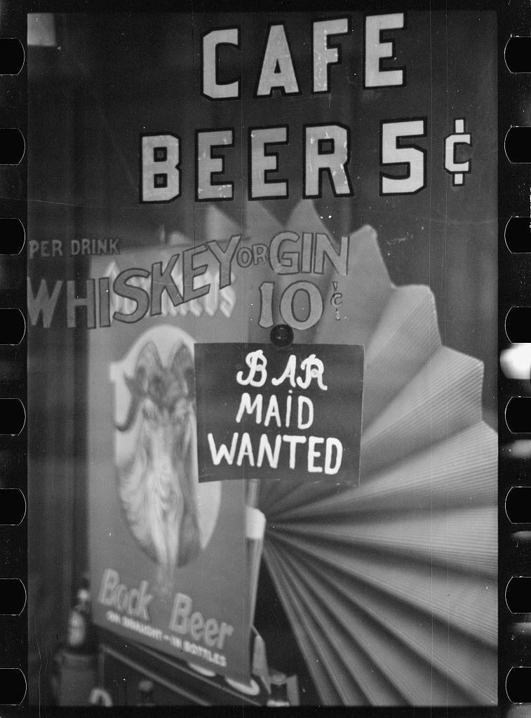 Sign on restaurant. Baltimore, Maryland
