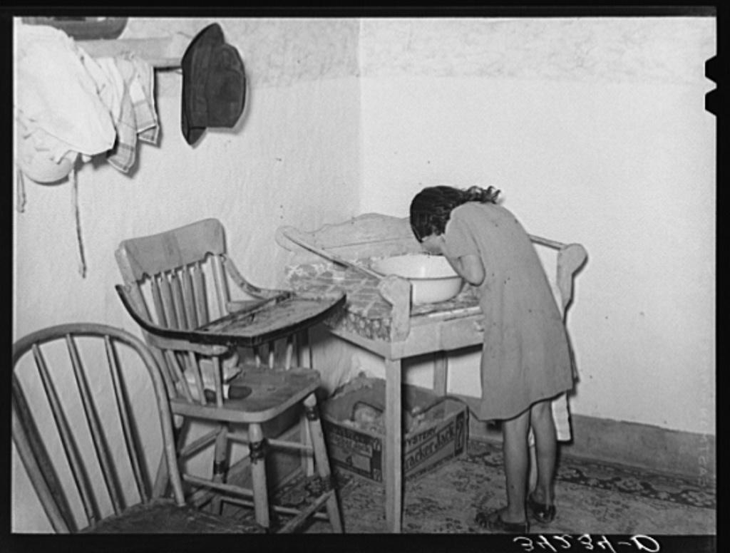 Astonishing Spanish American Girl Washing Her Face Farm Home Near Taos Machost Co Dining Chair Design Ideas Machostcouk