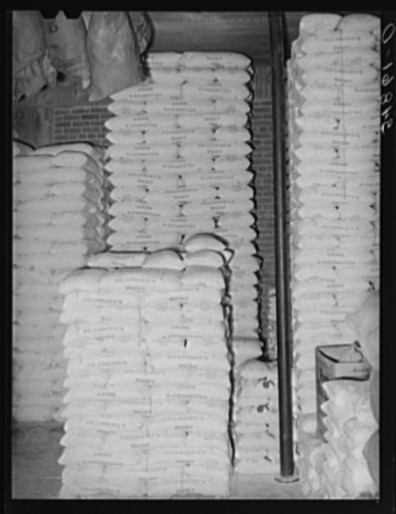 Stacks Of Flour In Storage. Wholesale Grocery, San Angelo ...