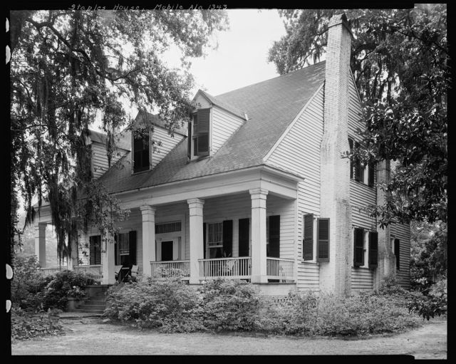 Staples House, 1614 Old Shell Road., Mobile, Mobile County, Alabama