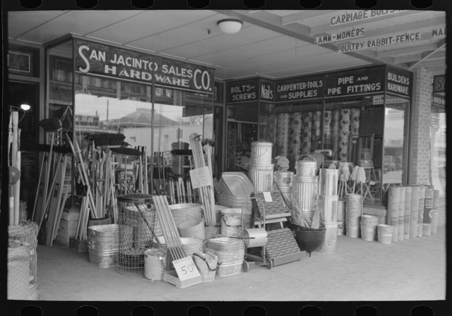 Stock of hardware store, Corpus Christi, Texas