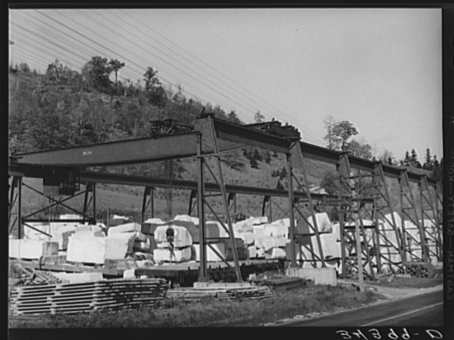 Stone quarry along U.S. No. 7 near Arlington, Vermont