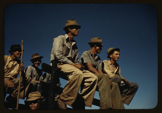 Sugar cane workers resting at the noon hour, Rio Piedras, Puerto Rico