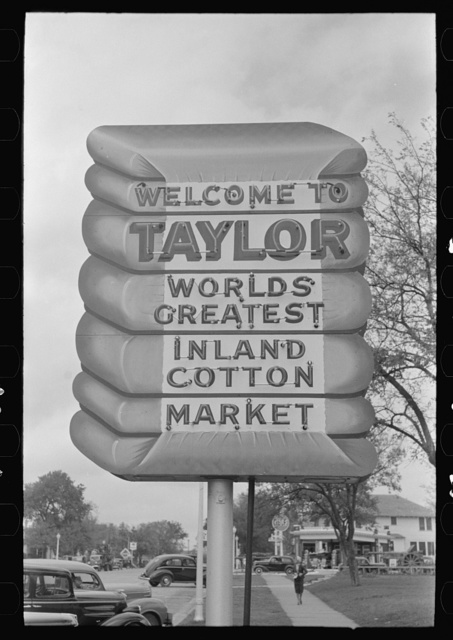 Symbol of cotton, Taylor, Texas