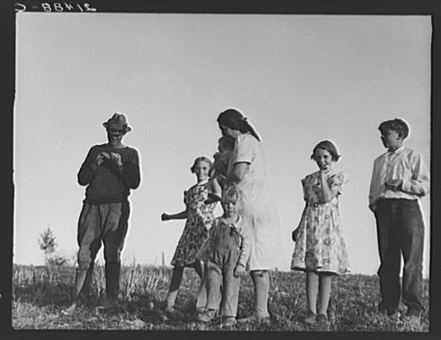 The Daughtery family, FSA (Farm Security Administration borrowers). Warm Springs district, Malheur County, Oregon