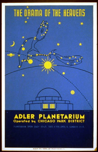 The drama of the heavens--Adler Planetarium, operated by Chicago Park District / Beard.