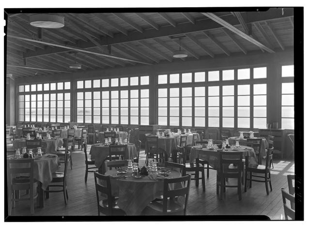 The Dunes Club, Narragansett, Rhode Island. Dining porch
