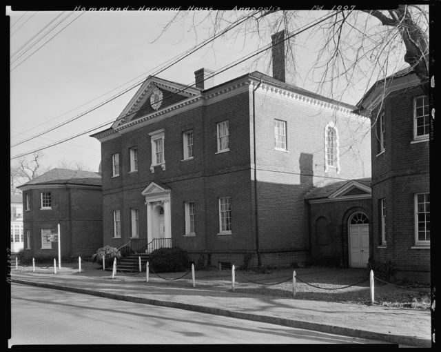 The Hammond-Harwood House, Annapolis, Anne Arundel County, Maryland