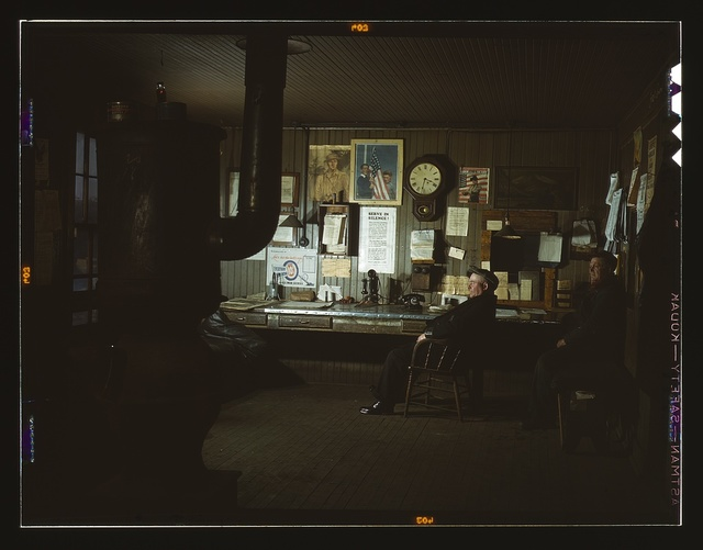 The yardmaster's office at the receiving yard, North Proviso(?), C & NW RR, Chicago, Ill.