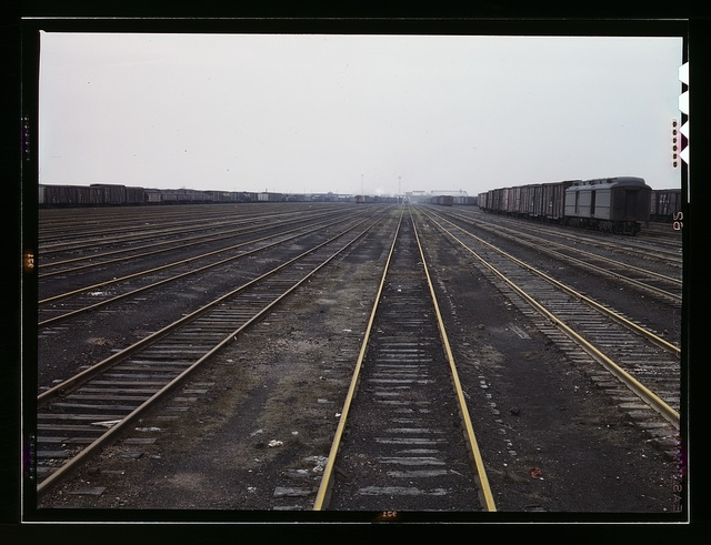 Tracks at C & NW RR's Proviso yard, Chicago, Ill.