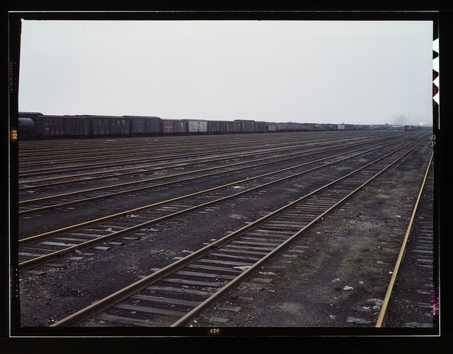 Tracks at Proviso yard of C & NW RR, Chicago, Ill.