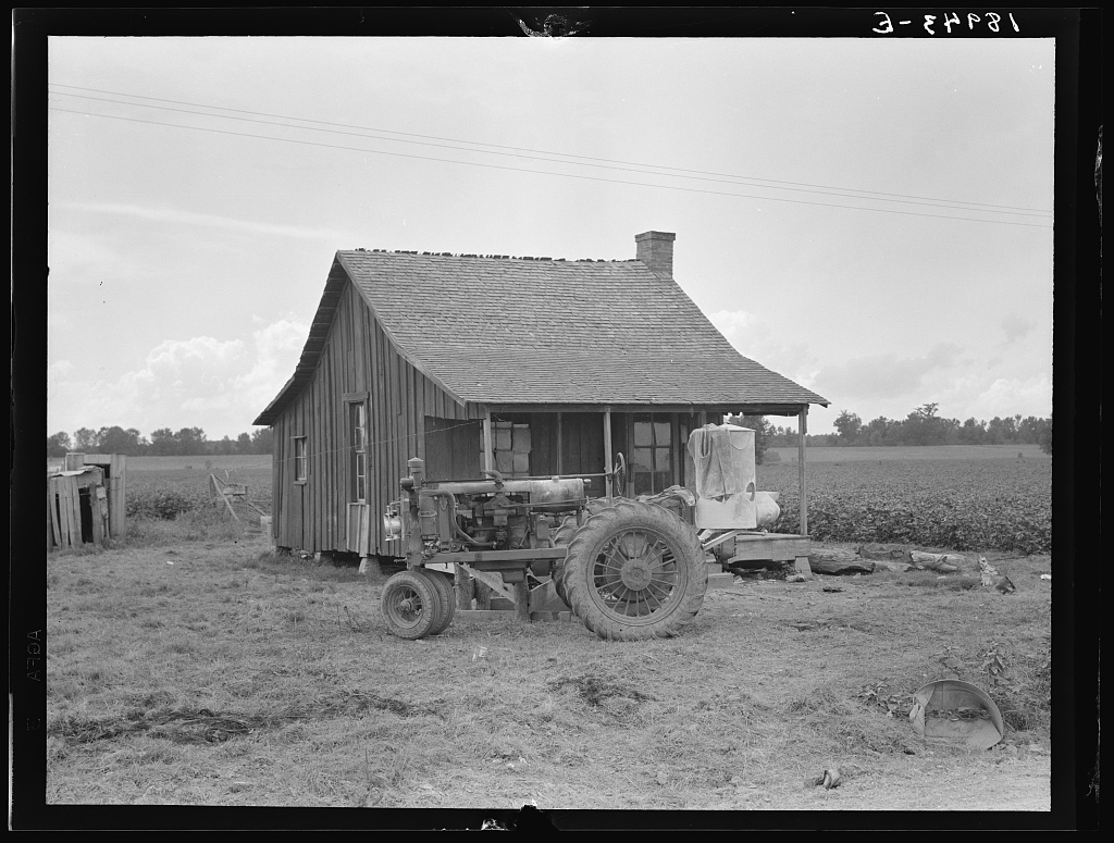 Tractors with pneumatic tires are replacing mules on the Delta plantations. Arkansas
