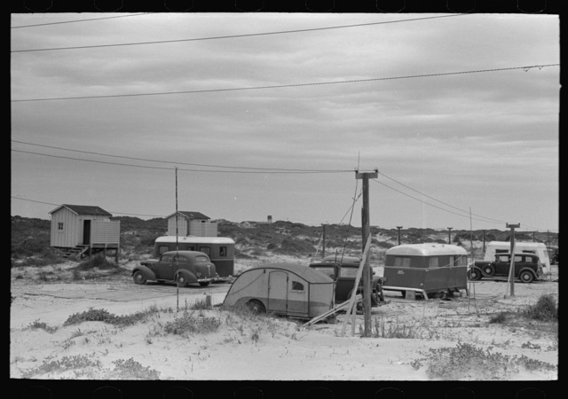 Trailer camp at Port Aransas, Texas. This is a fishing and summer resort