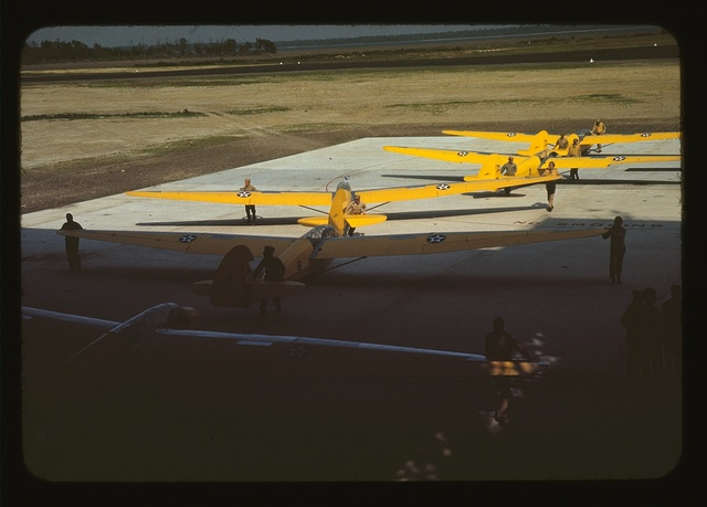 Training gliders at Page Field, Parris Island, S.C.