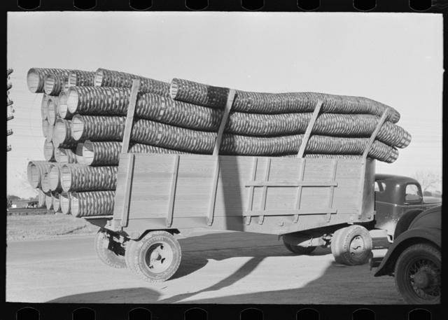 Truckload of baskets for citrus fruit, Pharr, Texas