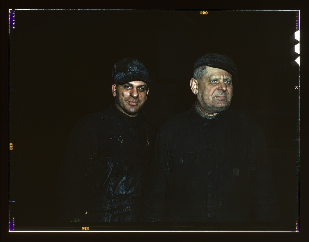 Two employees at the roundhouse at Proviso yard, C & NW RR., Chicago, Ill.