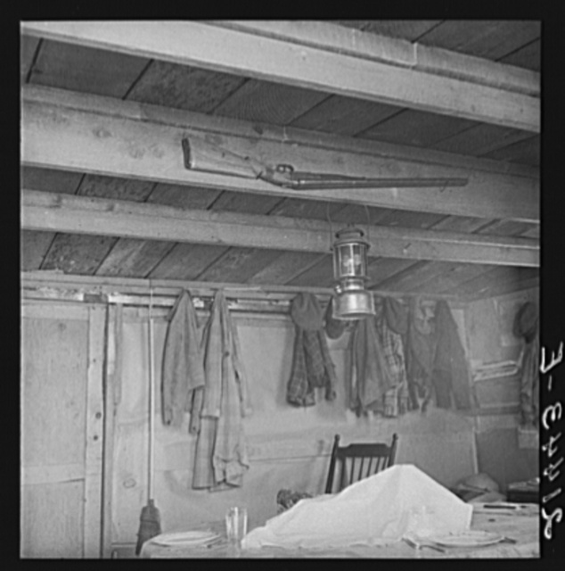 Vale Owyhee irrigation project, Malheur County, Oregon. Corner of the Dazey kitchen in the Homedale District