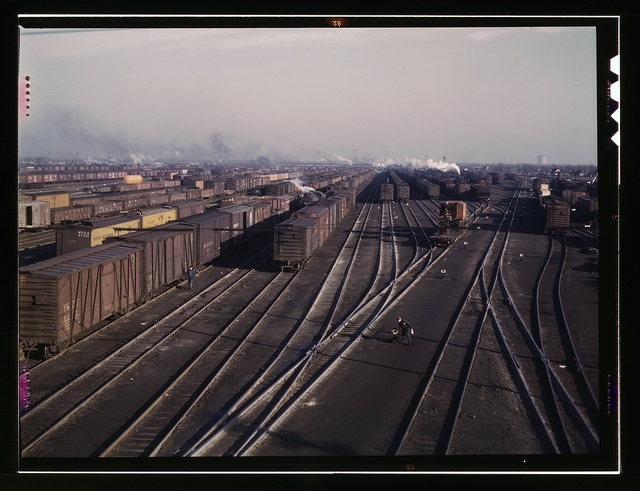 View of a classification yard at C & NW RR's Proviso yard, Chicago, Ill.