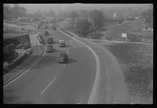 Washington, D.C. Rock Creek Parkway during the construction