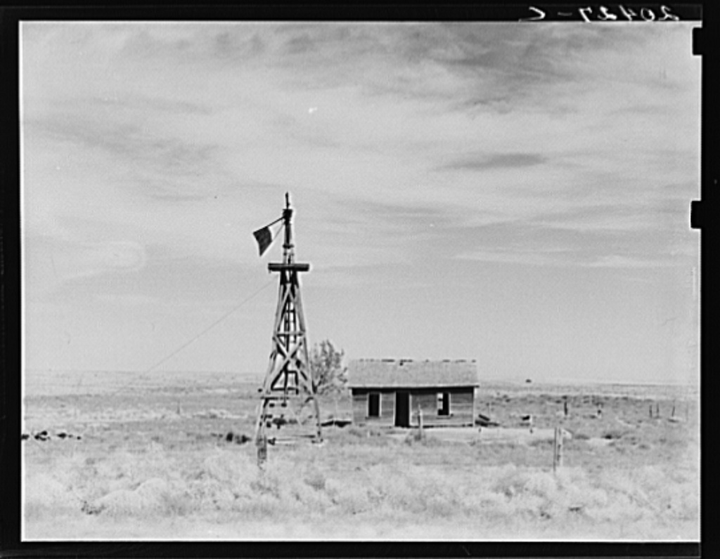 Washington, Grant County, south of Quincy. Deserted dryland farm in the Columbia Basin. About seventy five miles from Grand Coulee