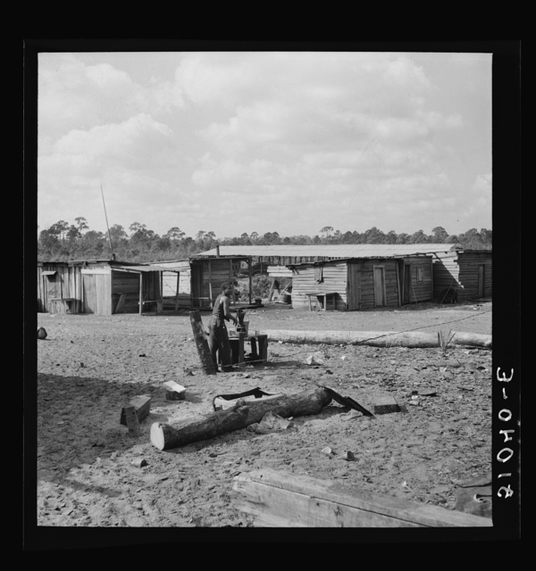 Water supply and homes of Negro sawmill workers. Childs, Florida