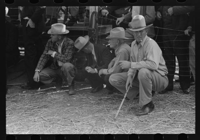 West Texans at horse auction, Eldorado, Texas