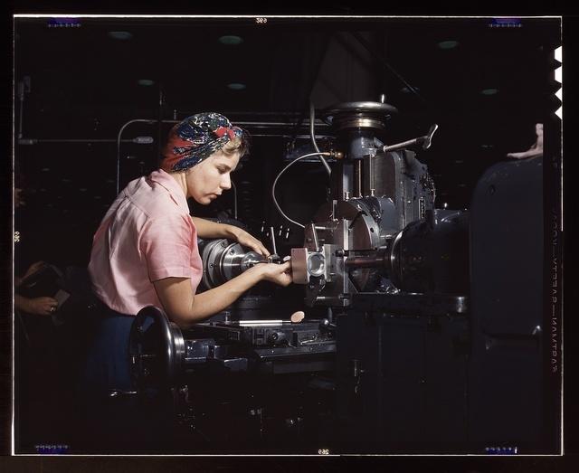 Woman machinist, Douglas Aircraft Company, Long Beach, Calif.