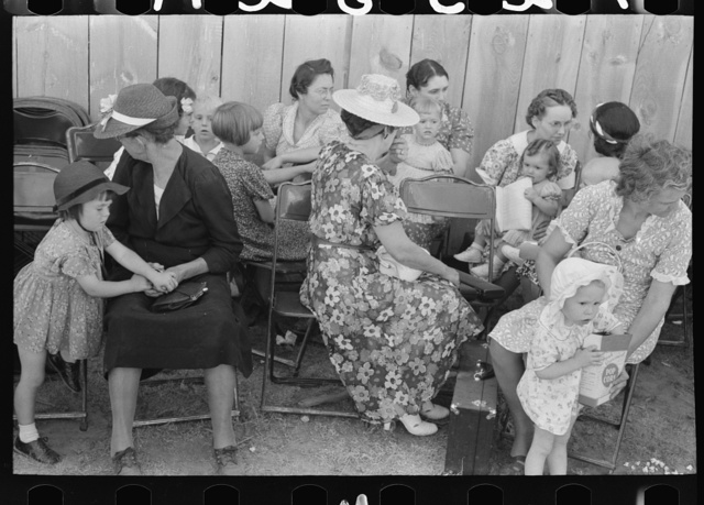 Women and children at 4-H Club fair, Cimarron, Kansas