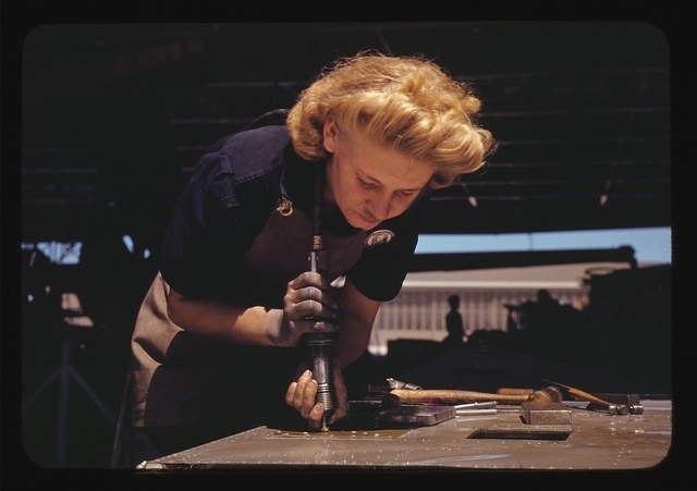 Working in the Assembly and Repair Dept. of the Naval Air Base, Corpus Christi, Texas
