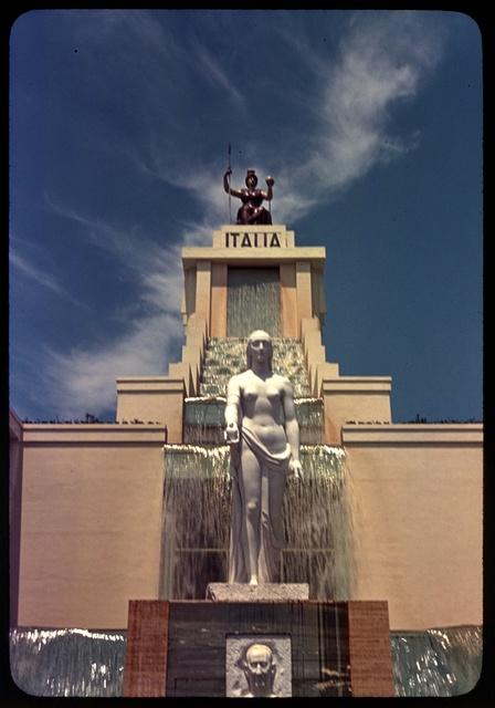 World's Fair. Italian Pavilion, waterfall, and Marconi monument II