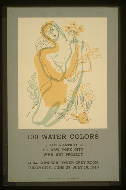 100 water colors by easel artists of the New York City WPA Art Project