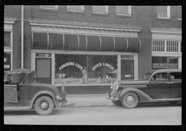 A cafe near the tobacco market, Durham, North Carolina