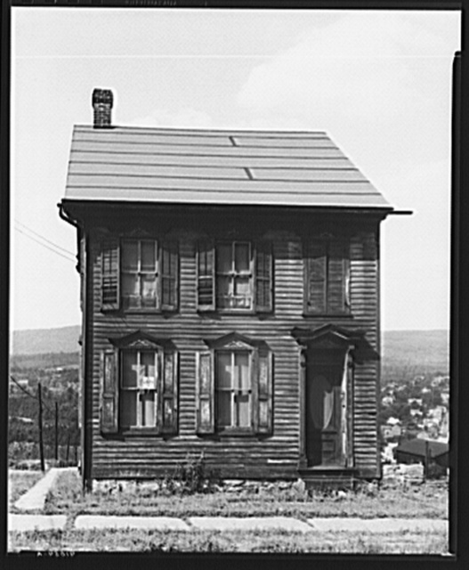 A house on North Street in Upper Mauch Chunk, Pennsylvania