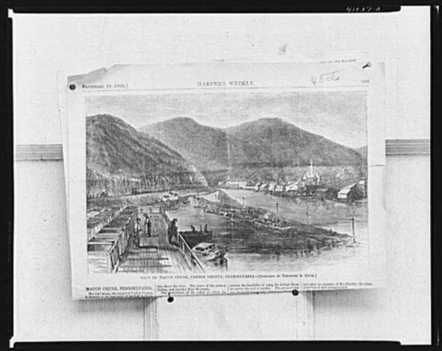 A page from Harpers (1869) from the public library. Mauch Chunk, Pennsylvania