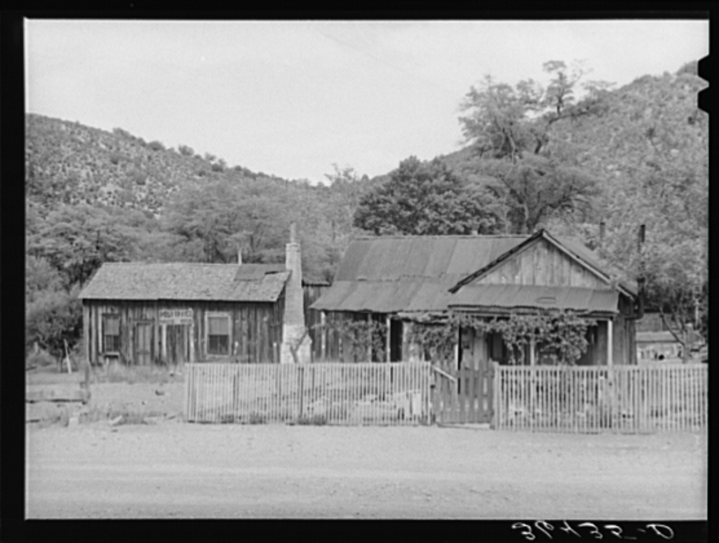 A residence and post office at Paradise, Arizona, former center of mining development, now a fruit section